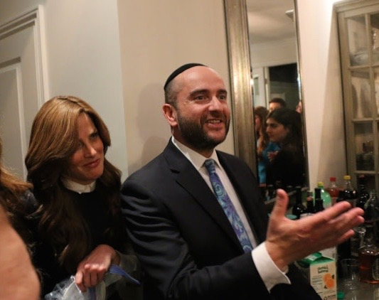 Rabbi Dunner addresses guests at his daughter's engagement party, Beverly Hills (2016)