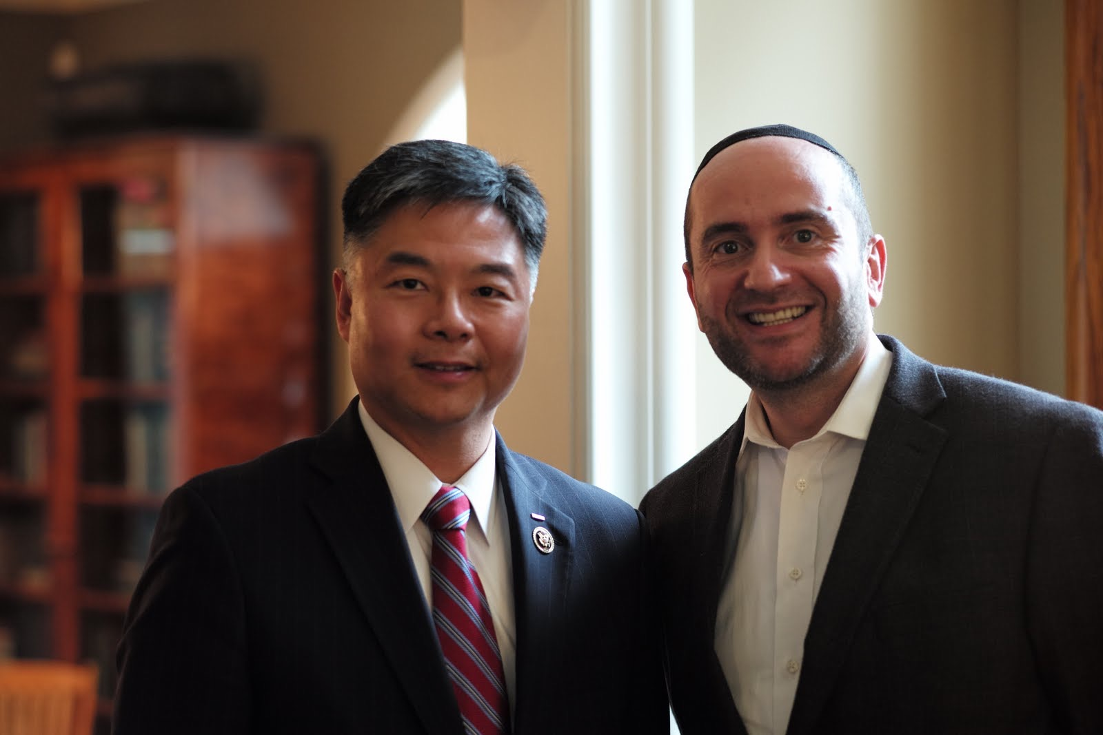 Rabbi Dunner with Congressman Ted Lieu (2015)