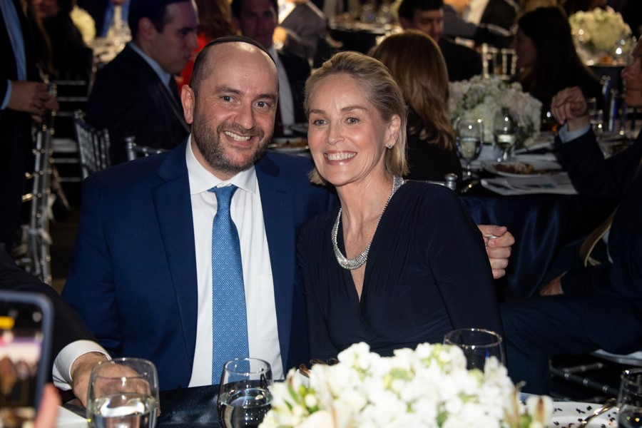 Rabbi Pini Dunner & Sharon Stone
