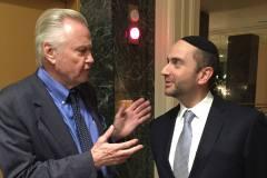 Rabbi Pini Dunner with actor Jon Voight in 2016