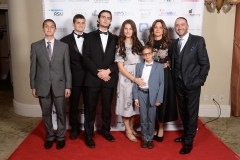 Rabbi Dunner and his family at the Beverly Hills Synagogue Annual Gala honoring Irena & George Schaefer, Beverly Hills Hotel (03/26/2017)