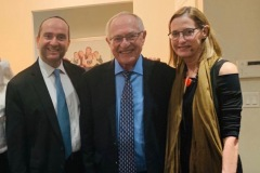 Rabbi Dunner with Alan & Carolyn  Dershowitz  at his home