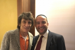 Rabbi Dunner with Ronnie Wood of the Rolling Stones