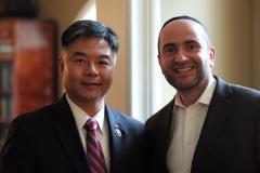 Rabbi Dunner with Congressman Ted Lieu (2015)