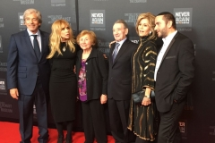 Rabbi Dunner on the red carpet at the USMOTH 2016 Banquet, with Jane Fonda and Rosanne Arquette, Beverly Hilton Hotel (March 2016)
