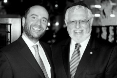 Rabbi Dunner with Rabbi Alan Kalinsky, Orthodox Union West Coast Annual Banquet, Sephardic Temple, Los Angeles (2015)