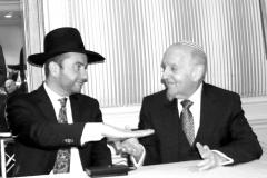 Rabbi Dunner with Rabbi Yechezkel Lookstein (2016)